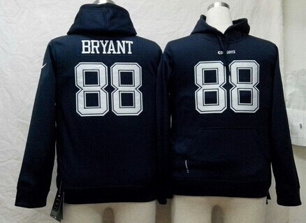 Nike Dallas Cowboys #88 Dez Bryant Blue Kids Hoodie