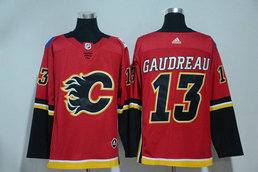 Adidas Men's Flames 13 Johnny Gaudreau Red Stitched NHL Jersey