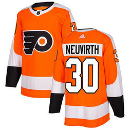 Adidas Men's Philadelphia Flyers #30 Michal Neuvirth Orange Home Authentic Stitched NHL Jersey