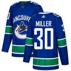 Adidas Men's Vancouver Canucks #30 Ryan Miller Blue Home Authentic Stitched NHL Jersey