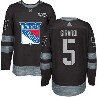 Adidas Men's York Rangers #5 Dan Girardi Stitched Black 1917-2017 100th Anniversary NHL Jersey