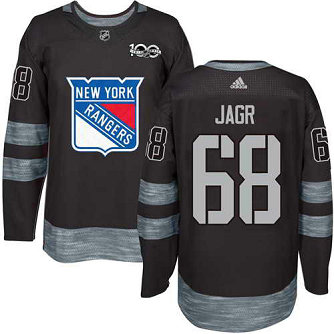 Adidas Men's York Rangers #68 Jaromir Jagr Stitched Black 1917-2017 100th Anniversary NHL Jersey