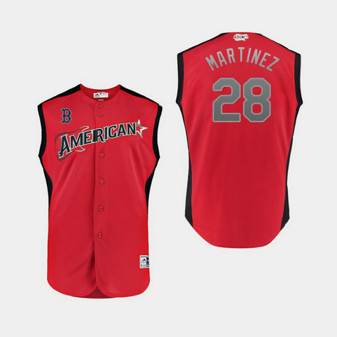 American League 28 J.D. Martinez Red 2019 MLB All-Star Game Player Jersey