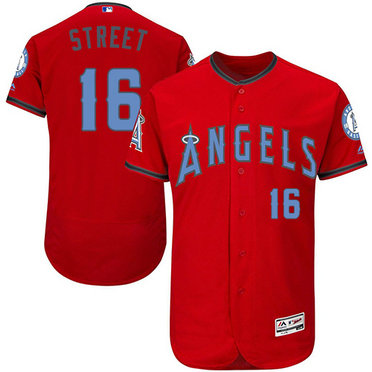 Angels 16 Houston Street Red Father's Day Flexbase Jersey