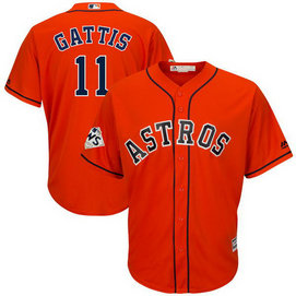 Astros #11 Evan Gattis Orange 2017 World Series Bound Cool Base Player Jersey
