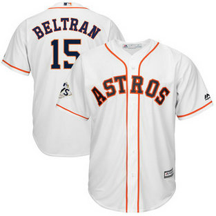 Astros #15 Carlos Beltran White 2017 World Series Bound Cool Base Player Jersey