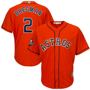 Astros #2 Alex Bregman Orange 2019 World Series Bound Cool Base Jersey