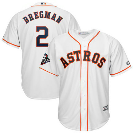 Astros #2 Alex Bregman White 2019 World Series Bound Cool Base Jersey