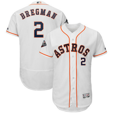 Astros #2 Alex Bregman White 2019 World Series Bound FlexBase Jersey