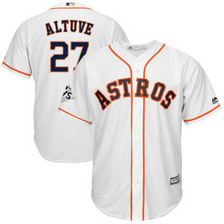 Astros #27 Jose Altuve White 2017 World Series Bound Cool Base Player Jersey