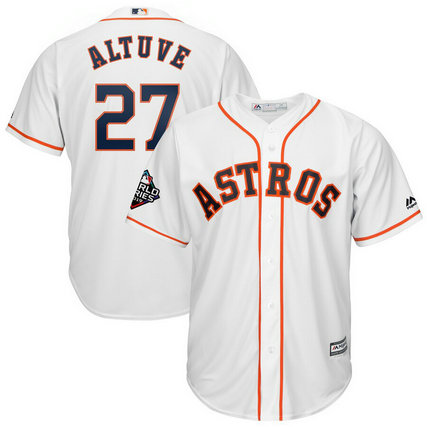 Astros #27 Jose Altuve White 2019 World Series Bound Cool Base Jersey