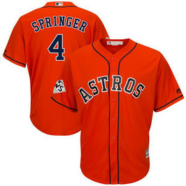 Astros #4 George Springer Orange 2017 World Series Bound Cool Base Player Jersey