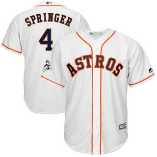Astros #4 George Springer White 2017 World Series Bound Cool Base Player Jersey