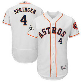 Astros #4 George Springer White 2017 World Series Bound Flexbase Player Jersey