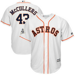 Astros #43 Lance McCullers Jr. White 2017 World Series Bound Cool Base Player Jersey