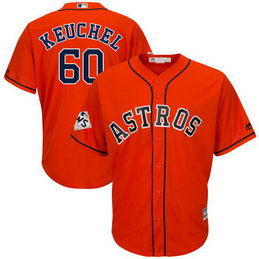 Astros #60 Dallas Keuchel Orange 2017 World Series Bound Cool Base Player Jersey
