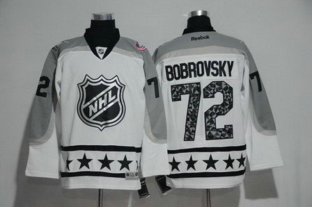 Blue Jackets 72 Sergei Bobrovsky White Metropolitan Division 2017 NHL All-Star Game Premier