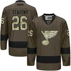 Blues #26 Paul Stastny Green Salute To Service Stitched NHL Jersey