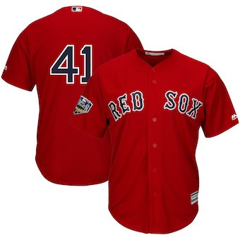 Boston Red Sox #41 Chris Sale Majestic Scarlet 2018 World Series Cool Base Player Number Jersey