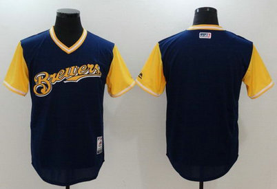 Brewers Majestic Navy 2017 Players Weekend Team Nickname Jersey