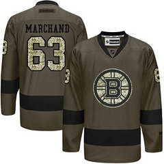 Bruins #63 Brad Marchand Green Salute To Service Stitched NHL Jersey
