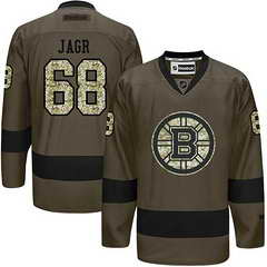 Bruins #68 Jaromir Jagr Green Salute To Service Stitched NHL Jersey