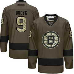 Bruins #9 Johnny Bucyk Green Salute To Service Stitched NHL Jersey