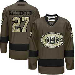 Canadiens #27 Alex Galchenyuk Green Salute To Service Stitched NHL Jersey