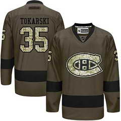 Canadiens #35 Dustin Tokarski Green Salute To Service Stitched NHL Jersey