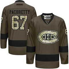 Canadiens #67 Max Pacioretty Green Salute To Service Stitched NHL Jersey