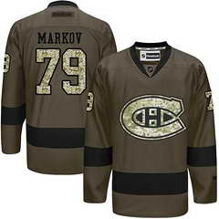 Canadiens #79 Andrei Markov Green Salute To Service Stitched NHL Jersey