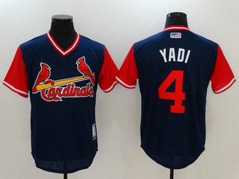 Cardinals 4 Yadier Molina Yadi Majestic Navy 2017 Players Weekend Nickname Jersey