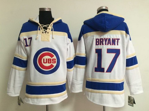 Chicago Cubs #17 Kris Bryant White Hoody