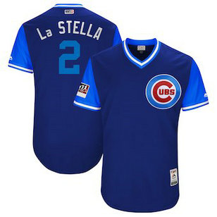 Chicago Cubs 2 Tommy La Stella La Stella Majestic Royal 2018 Players' Weekend Men's Authentic Jersey