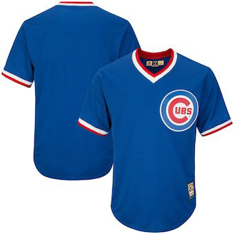 Chicago Cubs Majestic Blank Alternate Royal Big & Tall Cooperstown Collection Men's Cool Base Replica Team Jersey