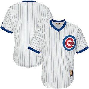 Chicago Cubs Majestic Blank White Big & Tall Cooperstown Collection Men's Cool Base Replica Team Jersey