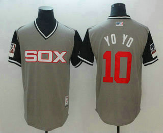Chicago White Sox #10 Yoan Moncada Yoyo Gray-Black 2018 Players' Weekend Men's Authentic Jersey