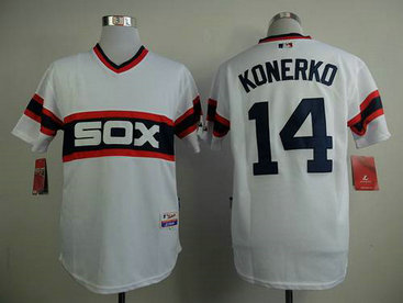 Chicago White Sox #14 Paul Konerko 1983 White Pullover Jersey
