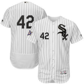 Chicago White Sox #42 Majestic 2019 Jackie Robinson Day Flex Base Jersey White