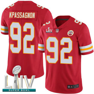 Chiefs #92 Tanoh Kpassagnon Red Team Color Super Bowl LIV Bound Men's Stitched Football Vapor Untouchable Limited Jersey
