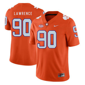 Clemson Tigers 90 Dexter Lawrence Orange Nike College Football Jersey