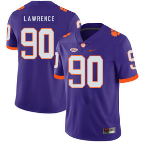 Clemson Tigers 90 Dexter Lawrence Purple Nike College Football Jersey