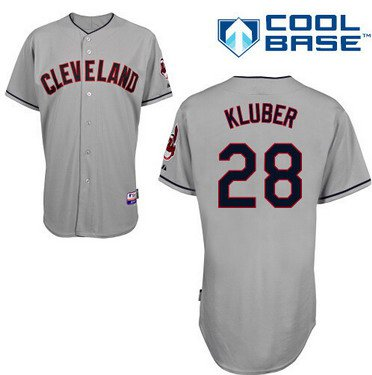 Cleveland Indians #28 Corey Kluber Gray Jersey