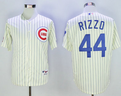 Cubs 44 Anthony Rizzo Cream 1969 Turn Back The Clock Jersey
