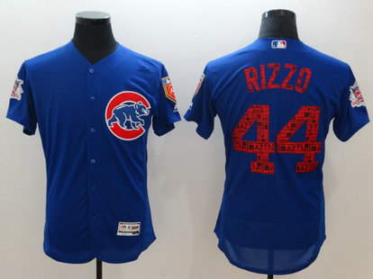 Cubs 44 Anthony Rizzo Royal 2018 Spring Training Flexbase Jersey