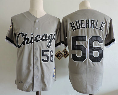 Cubs 56 Mark Buehrle Gray 2005 Cooperstown Collection Jersey