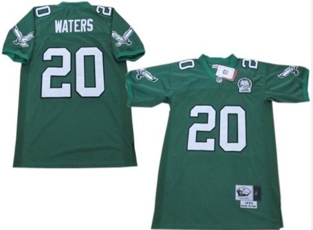 Custom Philadelphia Eagles #20 Andre Waters Light Green Throwback 99TH Jersey