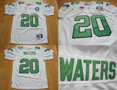 Custom Philadelphia Eagles #20 Andre Waters White Throwback 99TH Jersey