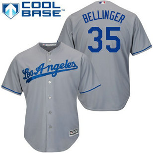 Dodgers #35 Cody Bellinger Grey Cool Base Stitched Youth MLB Jersey