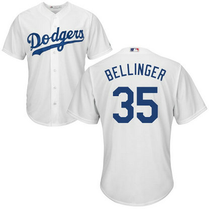 Dodgers #35 Cody Bellinger White Cool Base Stitched Youth MLB Jersey